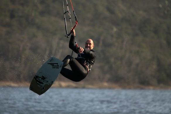Eric Kitesurfing